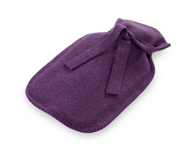 Steiner1888 Wärmflasche, Bettflasche Sophia 100% Merino viola - violett