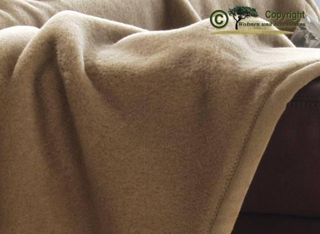 Traum Wolldecke Baby Kamelhaar von Ritter super weich 150x200 oder 220cm mit Strukturband