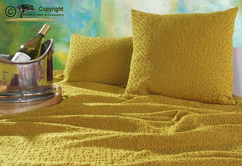 Kissen 30x50cm Adele mit Ajour Muster in gelb