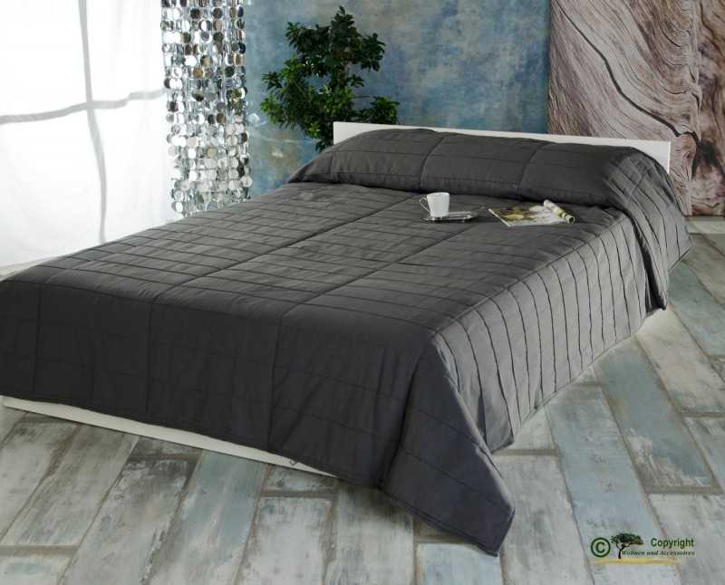 linum tagesdecke surf in 270x260cm anthrazit tagesdecken. Black Bedroom Furniture Sets. Home Design Ideas