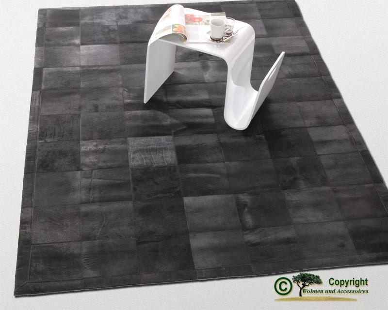 Edler Fellteppich, Teppich aus Fell, schwarz 170 x 240 cm
