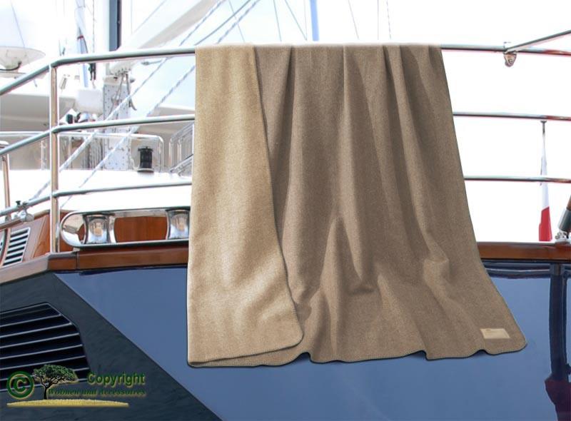 AKTION 100% Kaschmirdecke Portofino mit Fischgrat Muster, umkettelte Wolldecke Doubleface 150x220cm
