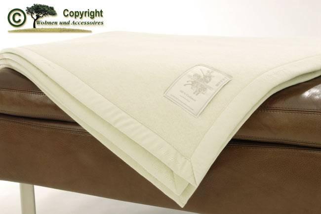 100% Kaschmir von Ritter Kaschmirdecke Kaschmount in elfenbein / weiß