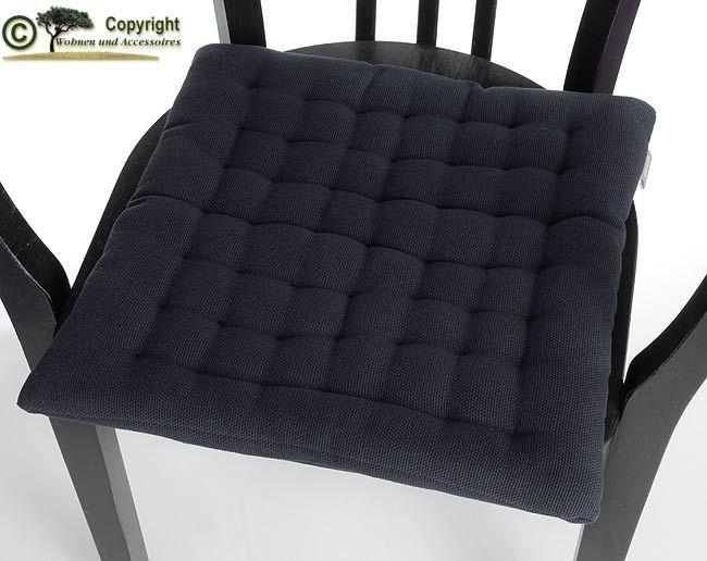 linum sitzkissen stuhlkissen sitzpolster schwarz h01 linum sitzkissen wolldecken. Black Bedroom Furniture Sets. Home Design Ideas