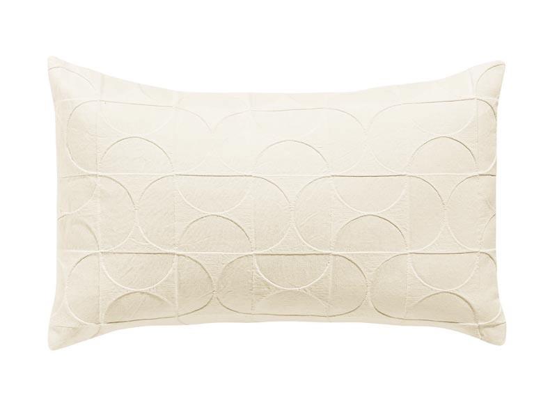 Kissen 30x50cm Tom mit Mustern aus Halbmonden in elfenbein