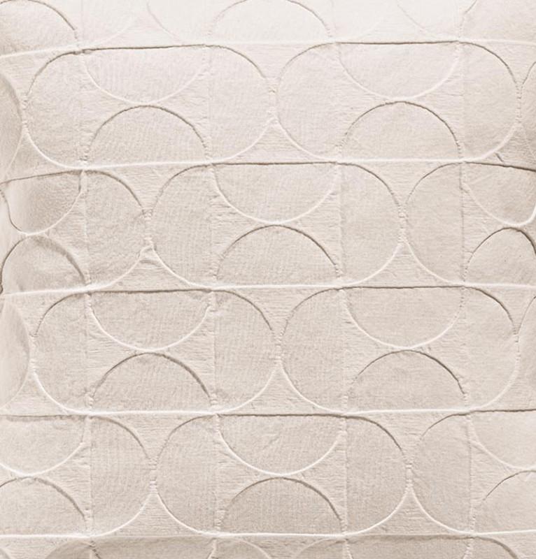 Tagesdecke Tom, toller französischer Überwurf mit Mustern aus Halbmonden beige 180x260cm