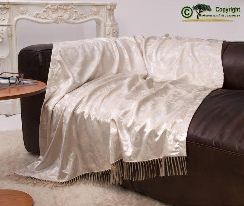 """Seide und Kaschmir - eine Wolldecke zum Niederknien aus 100% Seide und 100% Kaschmir in """"creme"""""""