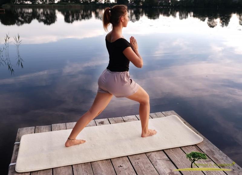 AKTION Yogamatte, Yoga Matte aus feiner Schurwolle Öko Tex 100 Standard