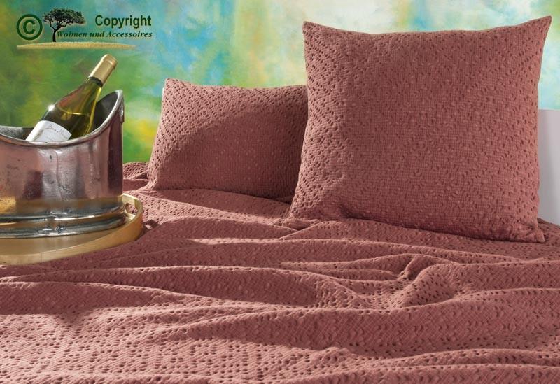 Kissen 30x50cm Adele mit Ajour Muster in rosé
