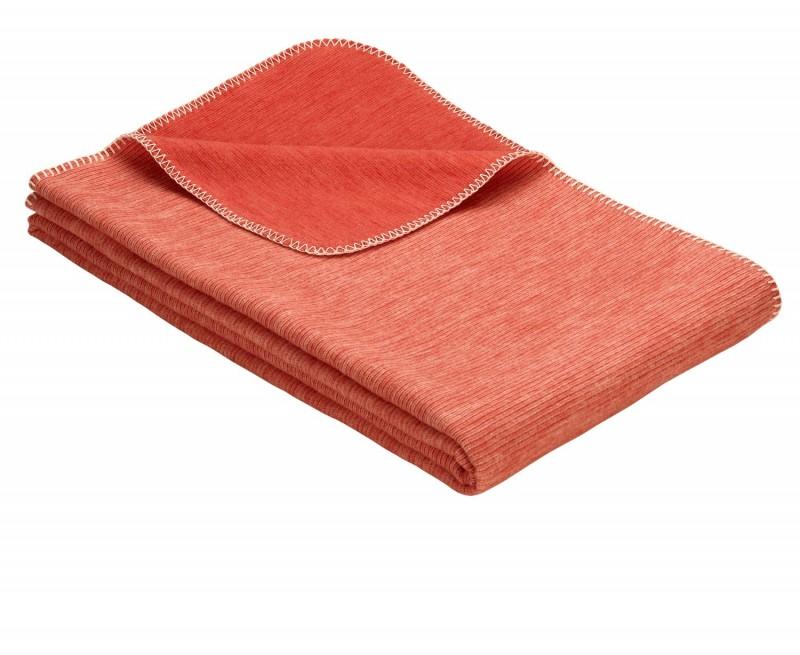 IBENA Babydecke aus 100% Baumwolle GOTS zertifiziert 70x100cm orange