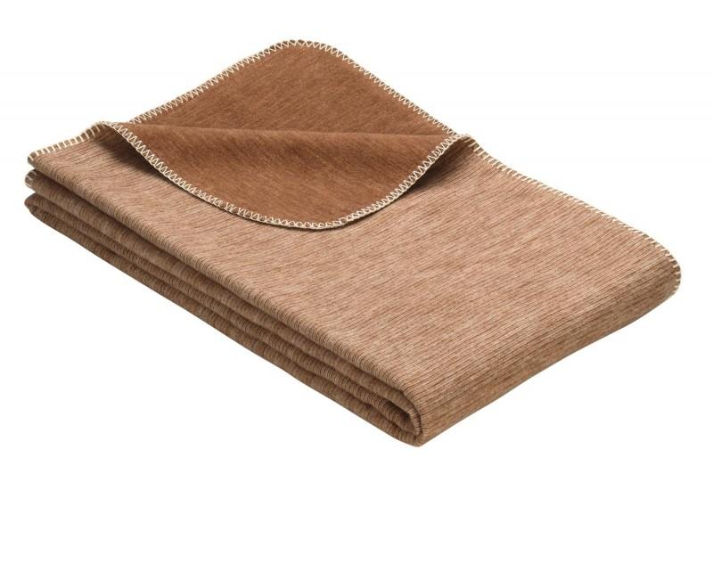 IBENA Babydecke aus 100% Baumwolle GOTS zertifiziert 70x100cm braun
