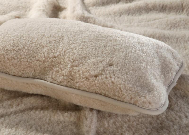 Wollkissen Nuss aus 100% Merinowolle in 35x55cm