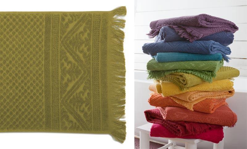 Handtuch 50x100cm aus reiner Baumwolle in grün