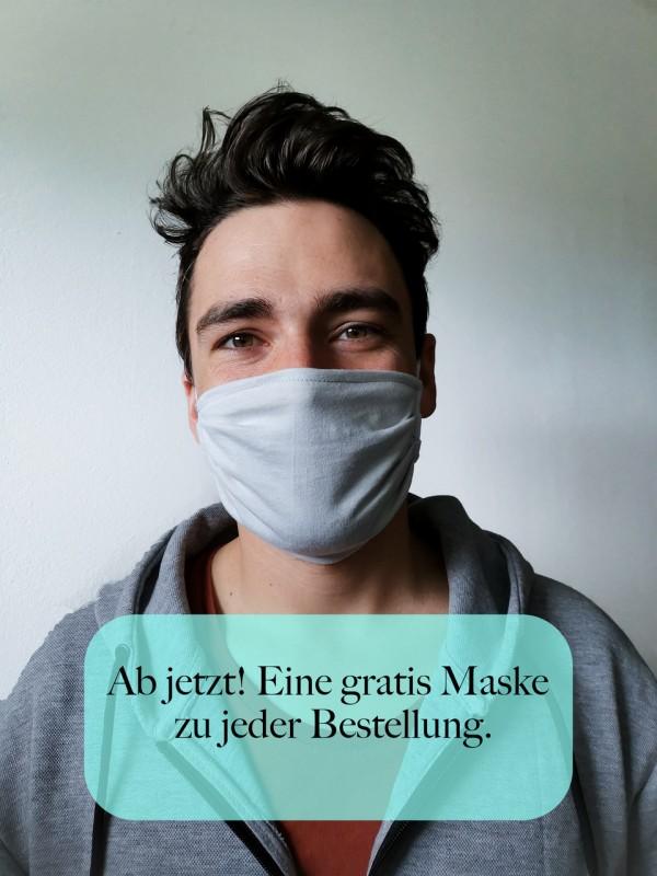 Gesichtsmaske 100% Baumwolle, Mund-Nasen-Maske aus Baumwolljersey kostenlos