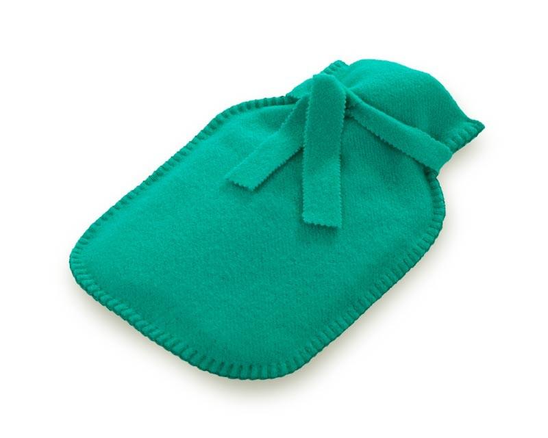 Steiner1888 Wärmflasche, Bettflasche Sophia 100% Merino ozean - grün, türkis