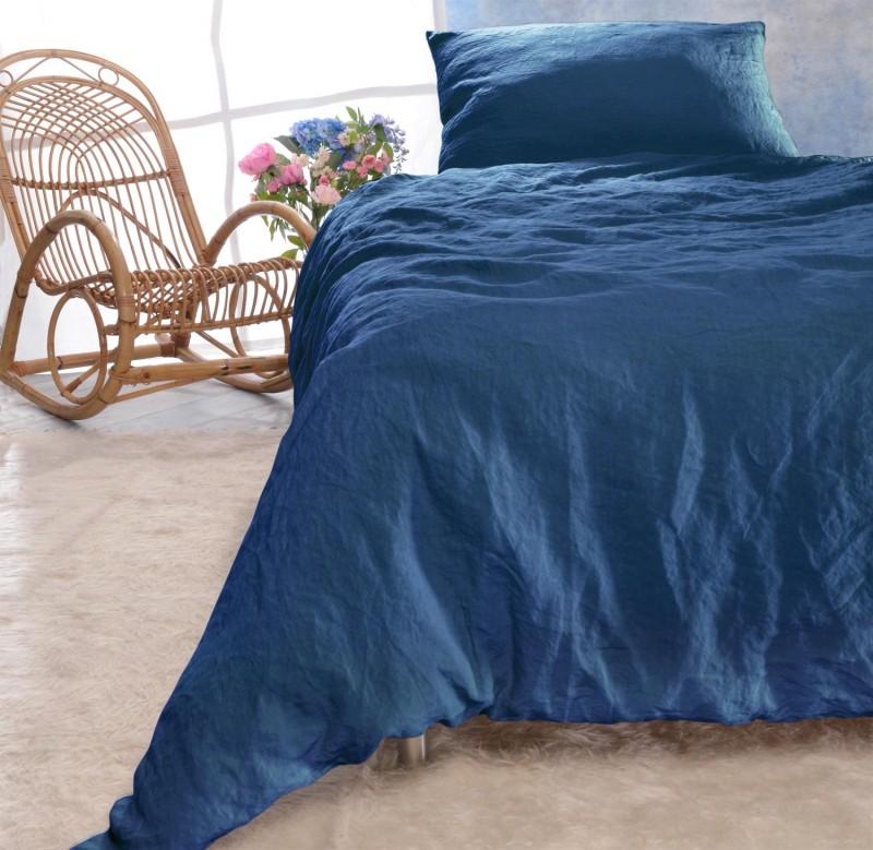 Leinen-Bettwäsche-Set Sintra blau 100% Leinen - hergestellt in Portugal nach Öko Tex 100