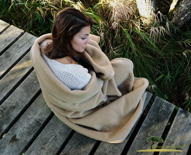 Waschbare Wolldecke von Ritter Lanawash aus Schurwolle in beige