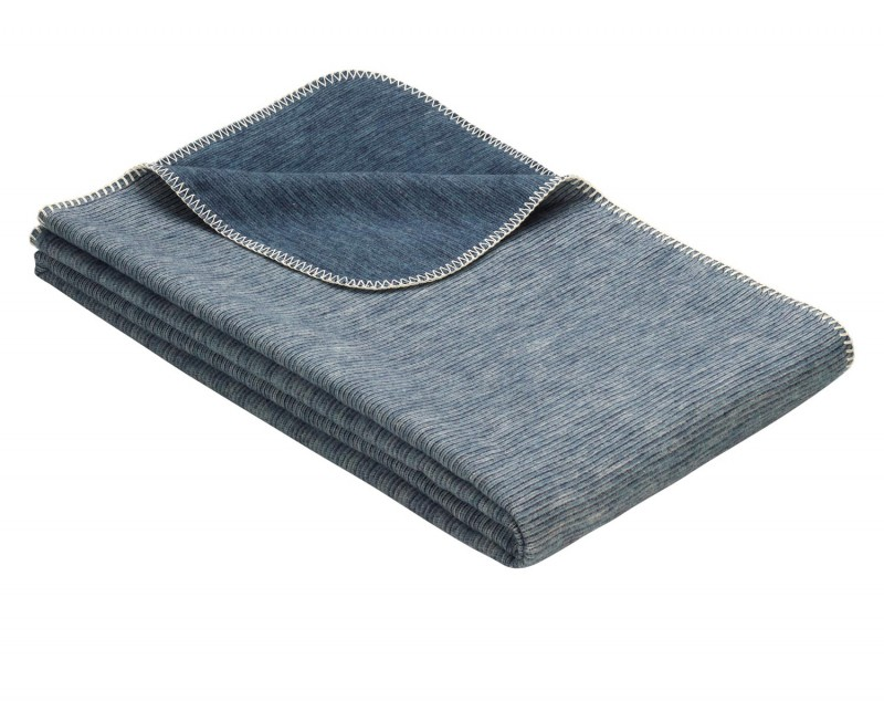 IBENA Babydecke aus 100% Baumwolle GOTS zertifiziert 70x100cm blau