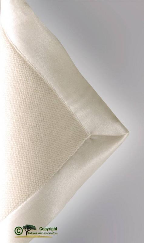 Märchenhafte gestrickte Kaschmirdecke, gestricktes Kaschmirplaid, Wolldecke in wollweiß – weiß
