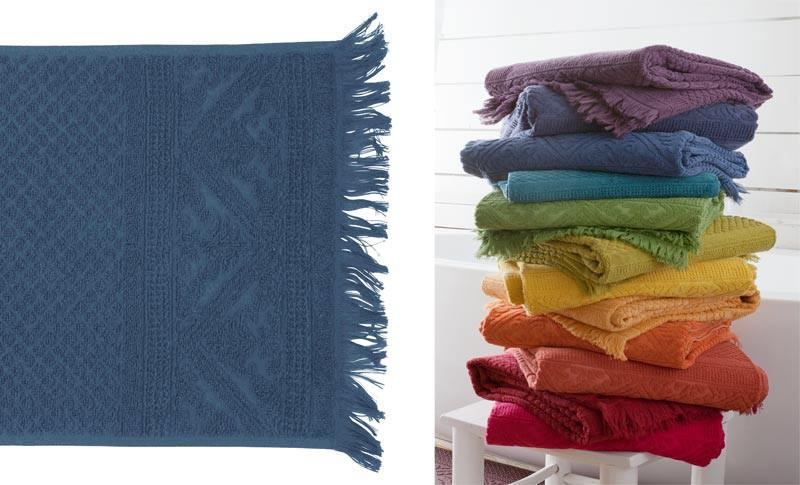 Gästehandtuch, Gästetuch 30x50cm aus reiner Baumwolle in blau