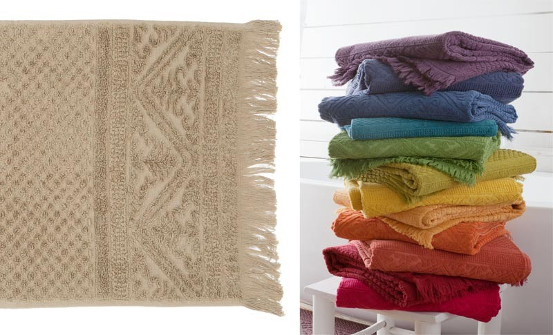 Gästehandtuch, Gästetuch 30x50cm aus reiner Baumwolle in beige