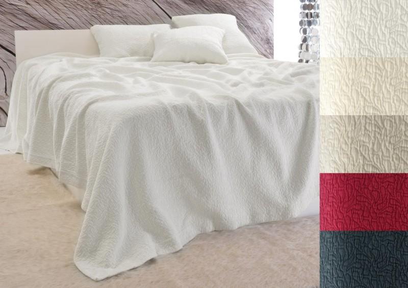 Tagesdecke Estoril - Paisley Muster - weiß 180x260 - 260x300cm