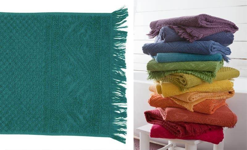 Handtuch 50x100cm aus reiner Baumwolle in türkis