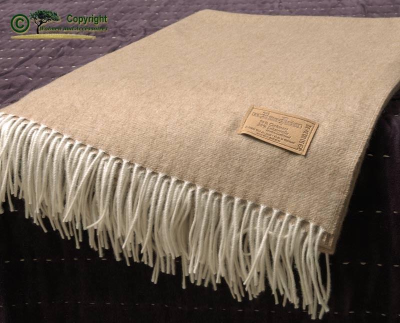 Kaschmirplaid, Wolldecke von Ritter aus 70% Kaschmir und 30% Merinolammwolle kamel
