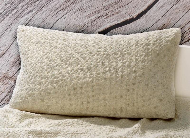 Kissen Coimbra - Kreuzstich Ornamentmuster - beige 30x50cm