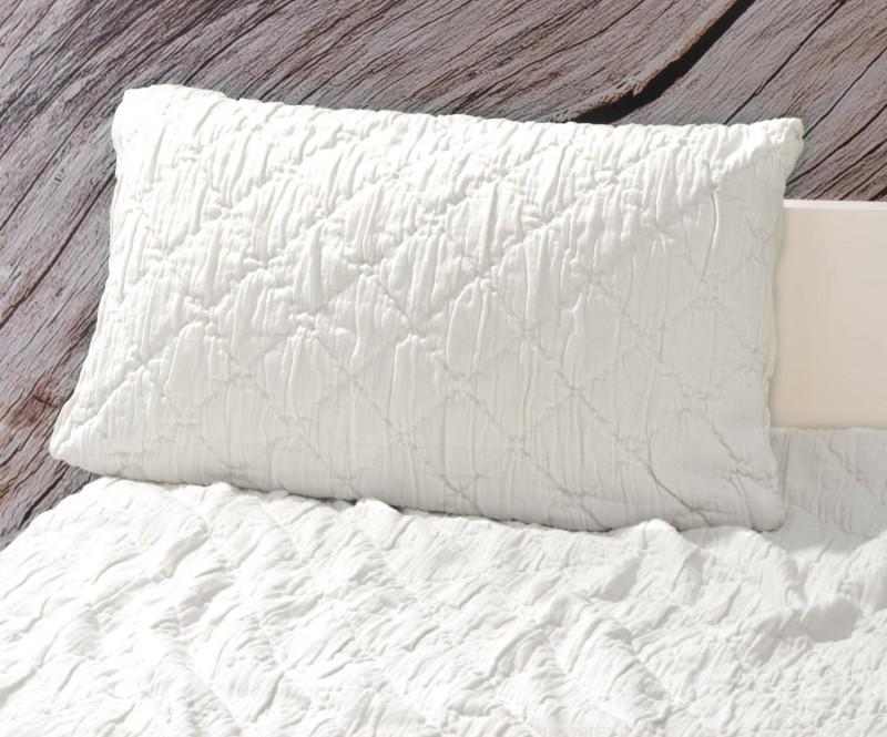 Kissen Aveiro - Rautenmuster - weiß 30x50cm