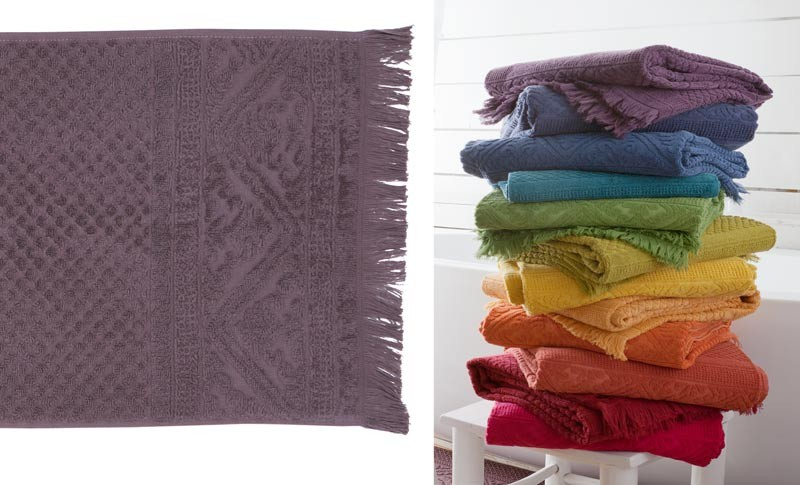 Handtuch, 50x100cm aus reiner Baumwolle in violett