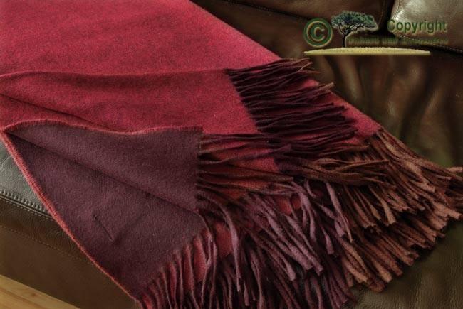 Tolle Wolldecke von Ritter 100% Lammwolle 130x180cm Rot