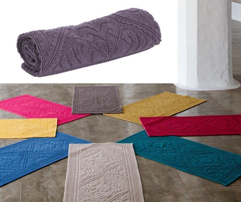 Badteppich - Badematte - Badvorleger 110x54cm in violett