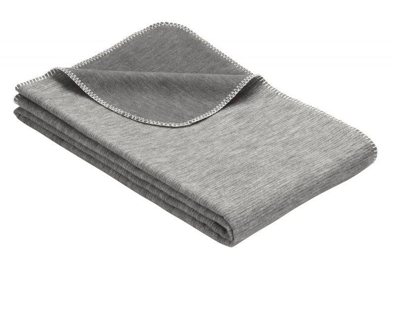 IBENA Babydecke aus 100% Baumwolle GOTS zertifiziert 100x140cm grau