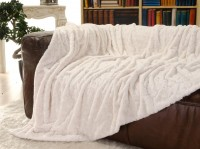 Felldecke (Webpelzdecke) Teddy creme-weiß 170x220cm